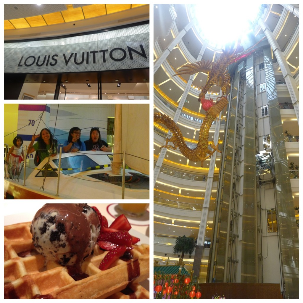 First time to go inside Louis Vitton, a yacht inside the mall and waffles for lunch :D