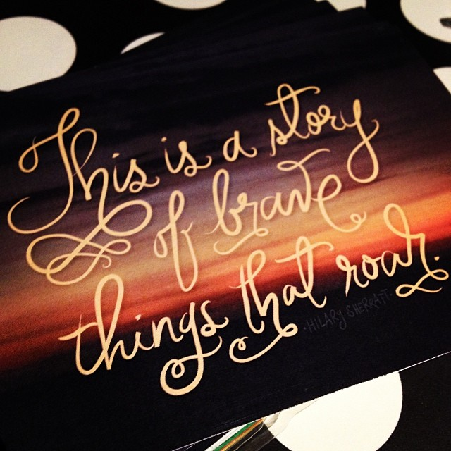 Words by Hilary Sherratt, calligraphy by Crae Achacoso :)