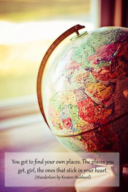 Image from we heart it, edited by me, words from Kristen Hubbard's Wanderlove