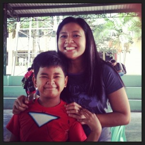 #100happydays Day 1: With James Carlo, one of our kids at #Cornerstone. Today was medical mission day. What a crazy fulfilling morning. :)