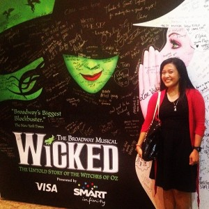 "#100happydays Day 9: ""Because I knew you, I have been changed for good."" 💚 What a wickedly awesome show. :)"