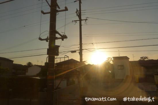 Last train ride in Japan :(