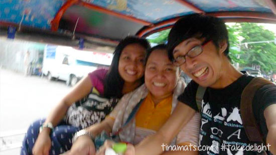 Blurry in the tuktuk!