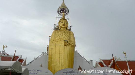 The standing Buddha.