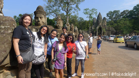 At the South Gate of Angkor Thom