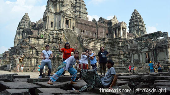 Fooling around at the Angkor Wat :)